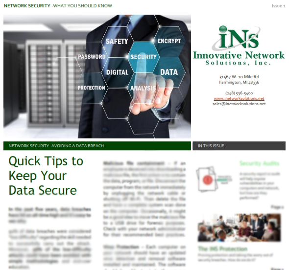 Preview image of Quick Tips to Network Security Guide PDF